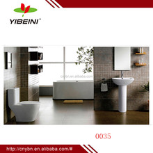 Chaozhou ceramic manufacture two piece toilet and basin bathroom set