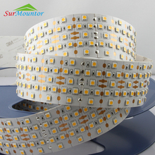 5050 280Led quad row led strip flexible light 24v,PCB double sided 24 volt led strip lighting