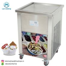 Fried Ice Cream Frozen Yogurt Roller machine Used For School Restaurant