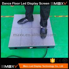 p10 hd video portable led dance floor screen optional indoor or outdoor non-interactive with acrylic glass mask
