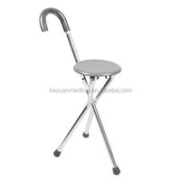 Aluminium Folding Elderly Walking Seat Cane