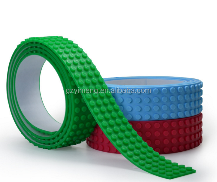 "36"" continuous tape Dots Flexible Legos Compatible Tape building toy silicone Nimunos Loops legos tape block tape"