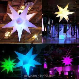Hot sale Color changing LED party decoration light inflatable star for event decoration