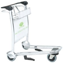 Trade Assurance Four wheels hand brake stainless steel luggage cart airport