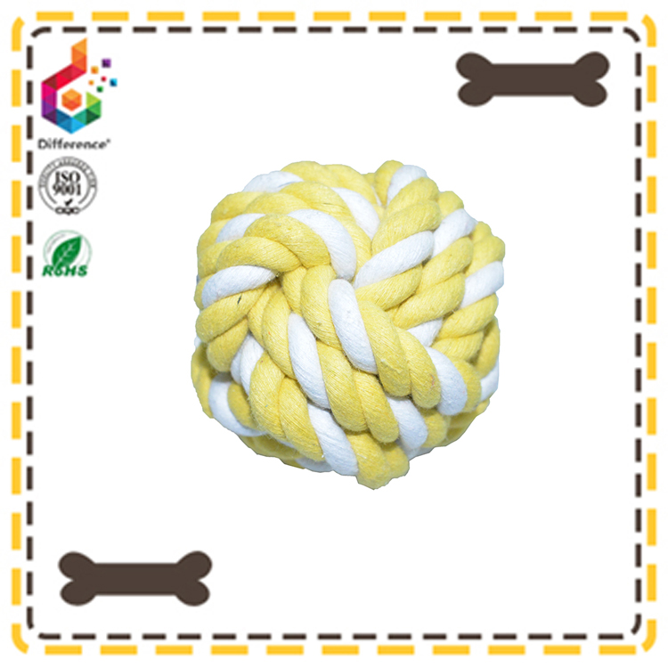 Cat toys cotton dog toys string woven ball cat catch toys