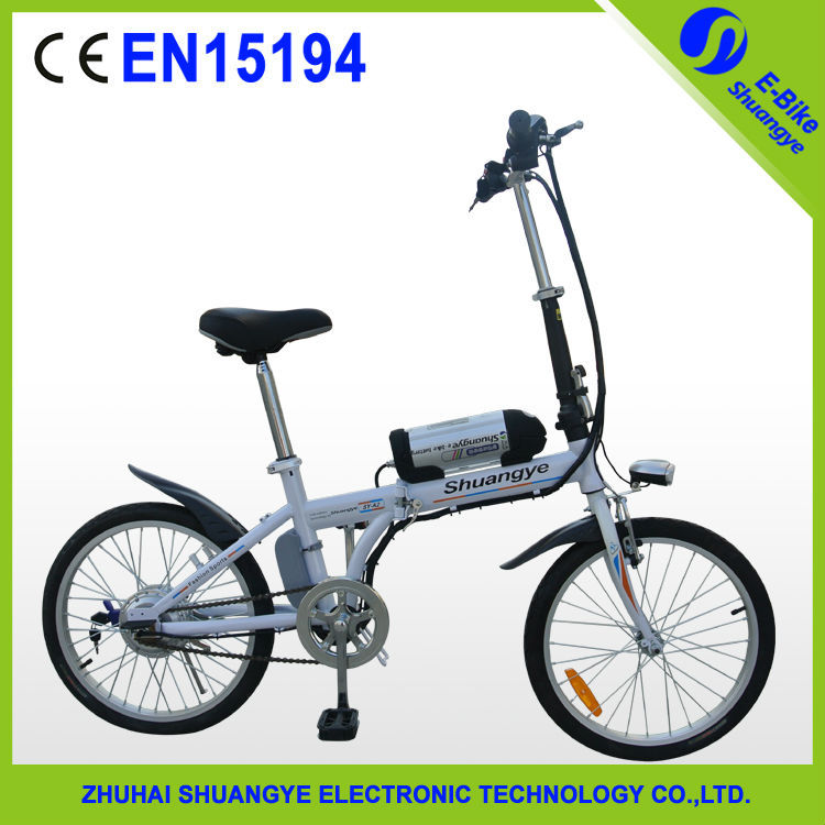 Shuangye new model 250w foldable electric bicycle
