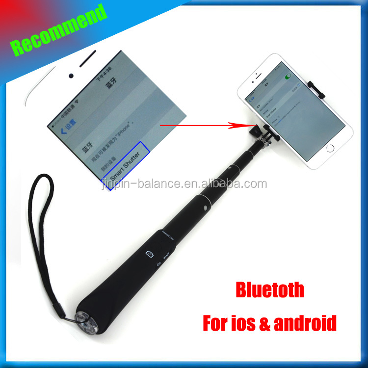 2017 new product! handheld camera monopod bluetooth,bluetooth selfie stick,wireless bluetooth monopod