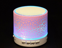 LED colorful lighting light mini portable wireless bluetooth speaker with TF card USB flash FM radio