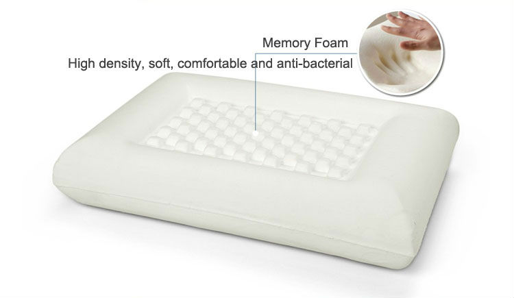 Comfort Summer Silicone Ice Visco Memory Foam Cool Ice Gel Cooling Pillow Hot On Tv