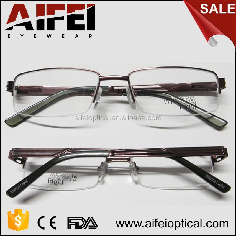 Hot sale light steel men style optical frame with podotheca