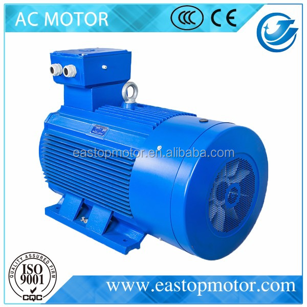CE Approved Y3 single phase ac box fan motor for crushers with Cast-iron housing