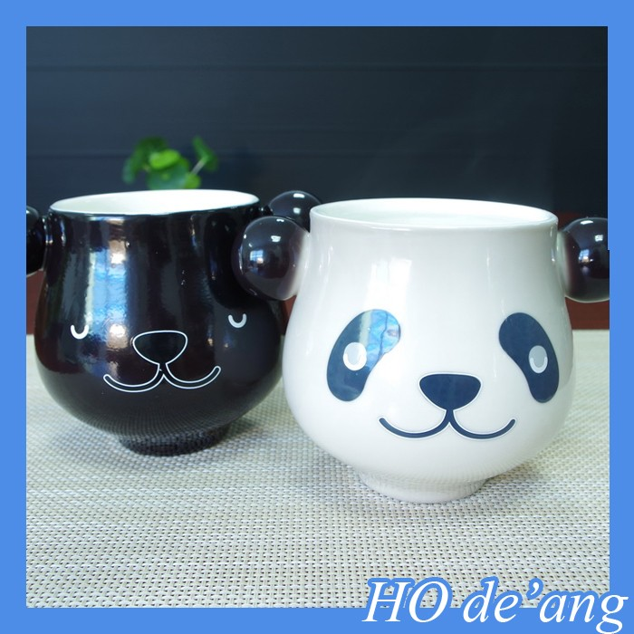 HOGIFT panda magic sublimation ceramic mug reusable coffee cup custom