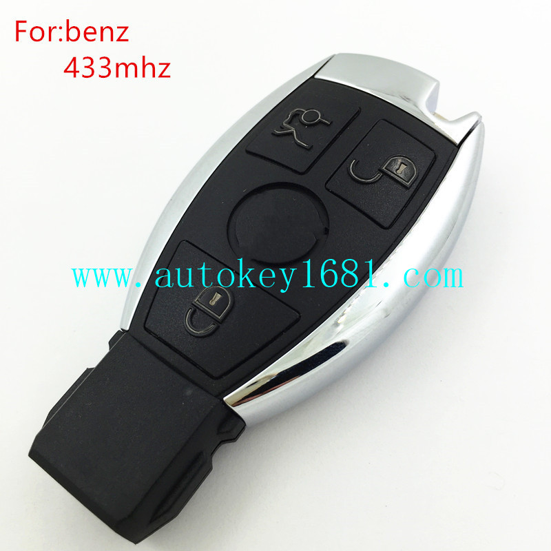 best quality car key for mercedes benz NEC chip smart card 433mhz remote control key with small key