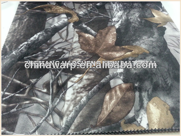 100%polyester waterproof printed woodland camouflage fabric05
