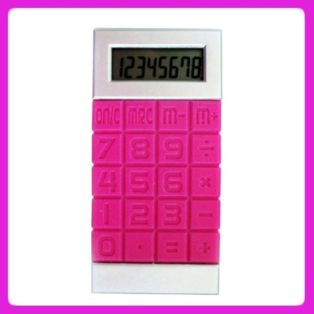 Colorful silicone calculator ,big keyboard touch screen silicone calculator