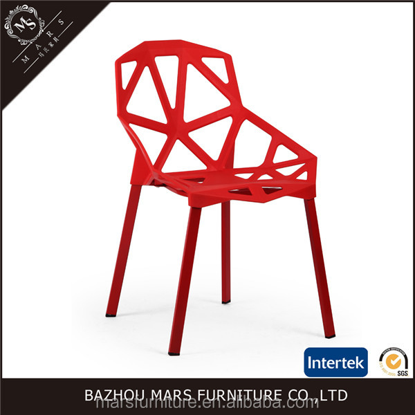 Modern design pp material fast food restaurant chairs