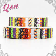 wholesale Colorful Rainbow Chevron Grosgrain Printed Ribbon