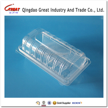 Rectangular clear clamshell plastic bread storage box by food grade material