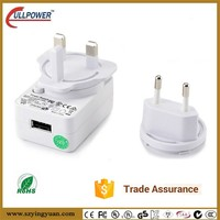 Dc 5v 9v 12v Output Wall Mount Interchangeable Power Adapter Universal Travel Adapter Multi Plug Ac Adapter