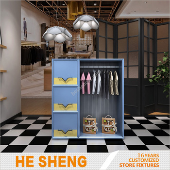 Clothing side display childrenswear cabinet fixtures industrial style HC01B01