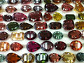 #AEZZ Natural Multi-Color Faceted Semi-Precious Loose Gemstone Tourmaline Cuts