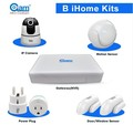 smart home system smoke alarm wireless digital home security controlled by mobile phone