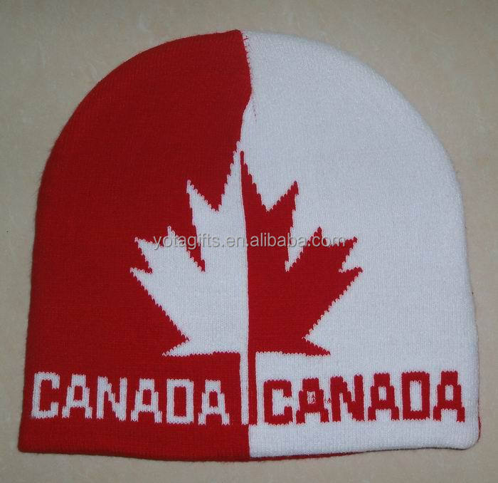 Winter Warm Knitting Beanie Hat with Custom Logo Design Winter Hat