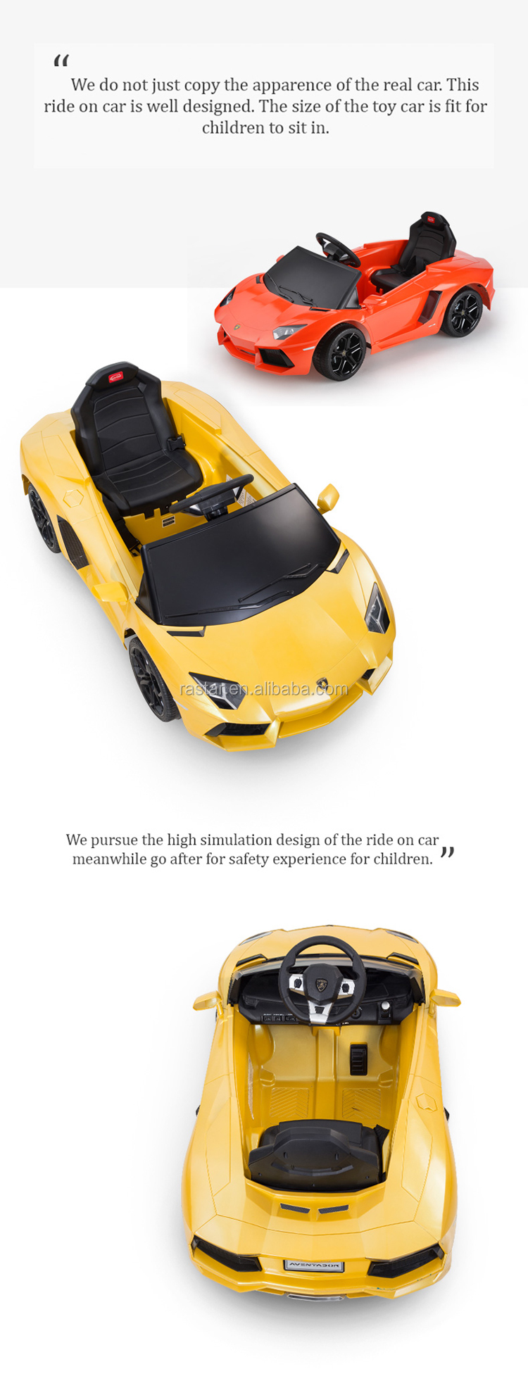 Rastar Lamborghini Licensed kids favorite electric ride on toy car