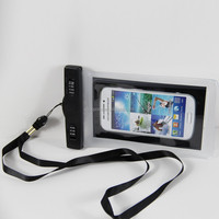 Portable Cuomtomized Logo waterproof cell phone bag Swimming Phone Holder Drifting Phone hang Bag