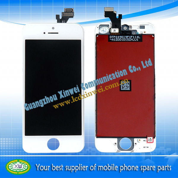 100% original factory directly offer lcd touch digitizer for iphone 5 lcd