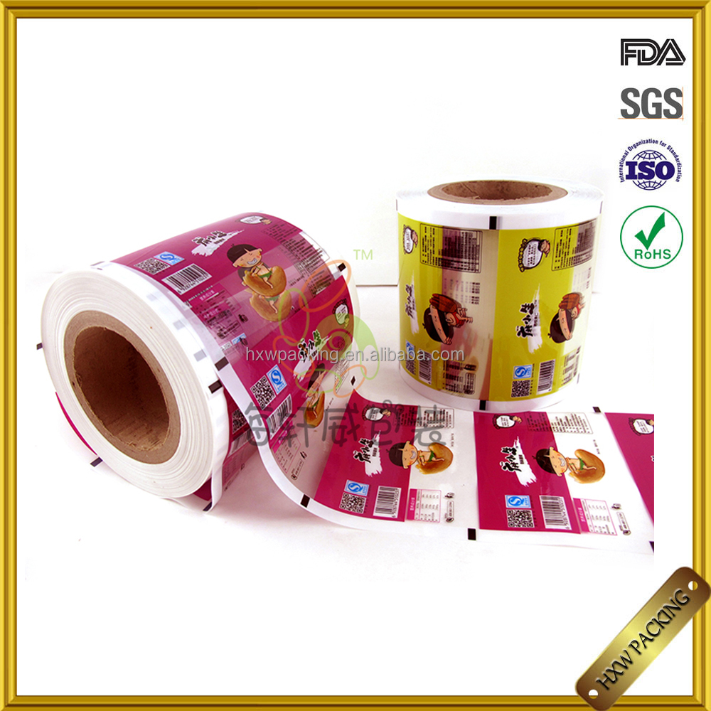 Shenzheng manufactory custom stretch ldpec lamination plastic film new product food grade plastic bag packing film roll