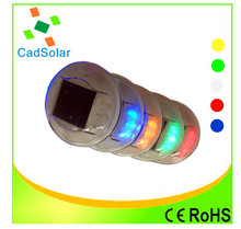 China manufacture round PC led solar road stud light