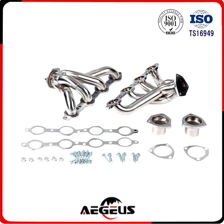 sliver stainless steel car exhaust header exhaust pipe standard size for 03-07 Infiniti G35/03-06 Nis 350Z