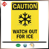 2014 yellow pp warning watch our ice caution sign board
