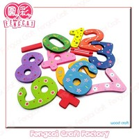 Wooden colorful alphabet Letter for educational toy (Wood craft in laser )