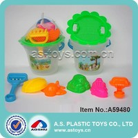 8 pieces beach moulds/pail/ shovels plastic sand toy gifts