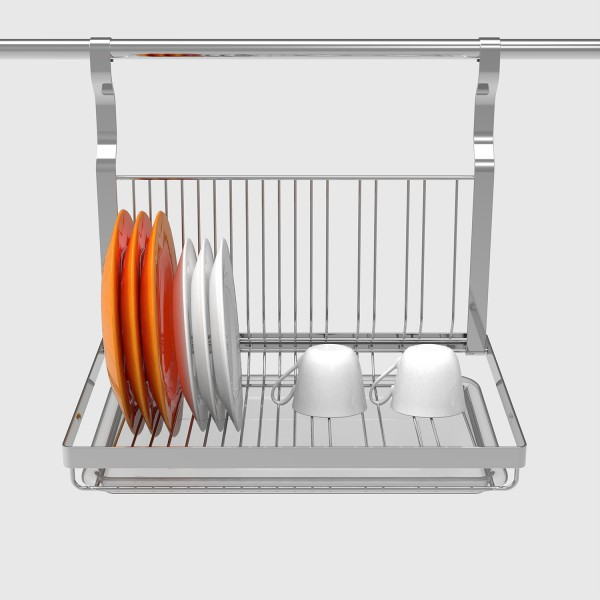 Baiying 2016 October Most Popular Kitchen Use Plate Holder Rack 2 tier stainless steel dish drainer