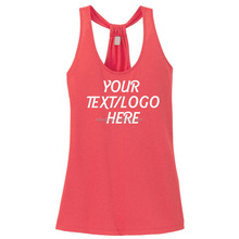 Racerback Fitness Tank Tops Women Customized Ladies Loop Back Design Tank Youth Singlets