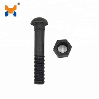 Railway Fasteners fish bolt Track Bolt and Nut