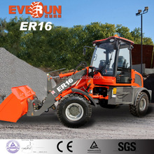 Everun Hot Sale 1.6 Ton Mini Pallet Forks Front End Wheel Loader With CE Approved