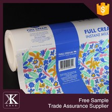New Zealand Different Printing Milk Powder Plastic Packaging Roll Film