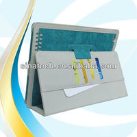 New arrival jeans leather for ipad case, with card loads and handholder