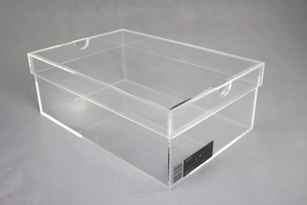 Online retail shoe acrylic display box with low price