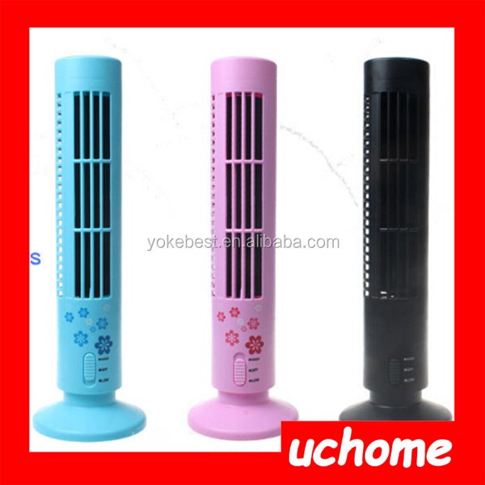 UCHOME Creative USB Mini Tower fan Desk Fan Without Leaves For Home And Office Use