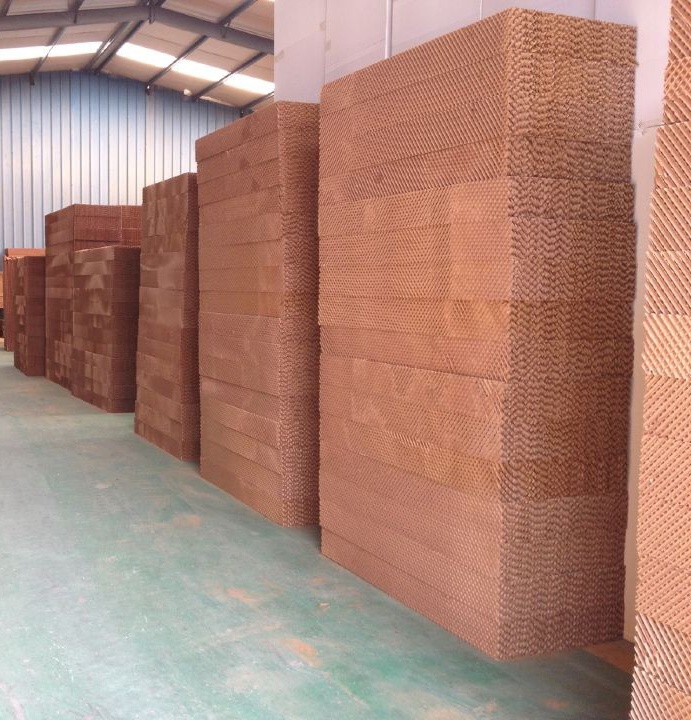 7090 Evaporative/honeycomb Cooling Pad with Corrugated Fiber Paper