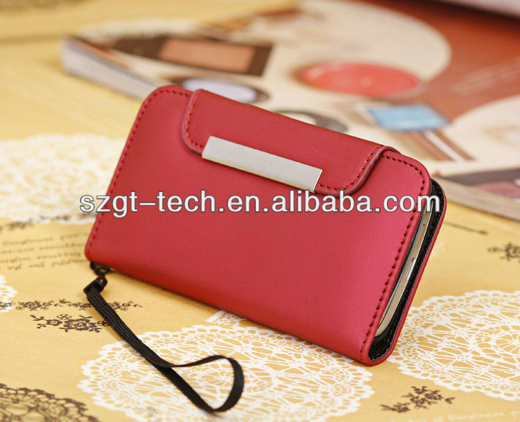 2013 Newest Smartphone Leather Case For Samsung Galaxy S4 Mini I9190 Leather Case