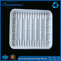 disposable plastic plate slide blister fruit tray