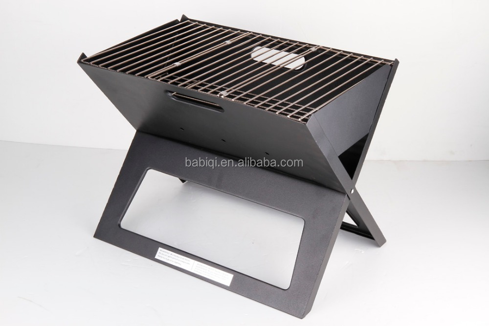 High Quality Notebook barbecue for easy carry foldable X shape charcoal bbq grill BBQ5335