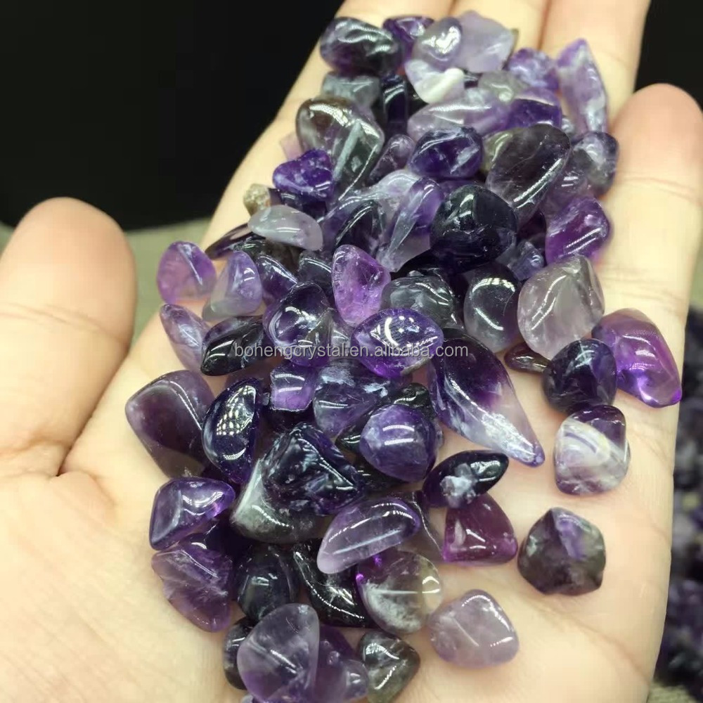 Wholesale Natural Polished Reiki Healing Amethyst Quartz <strong>Crystal</strong> Tumbled Stones <strong>Crystal</strong> Chips