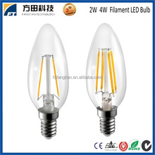 china top ten selling products 2w 4w e12 e14 led filament bulb